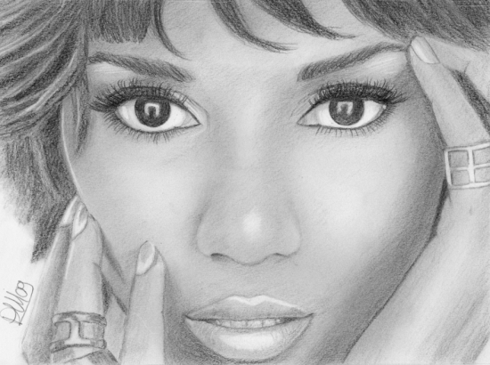 Halle Berry by dreamingart